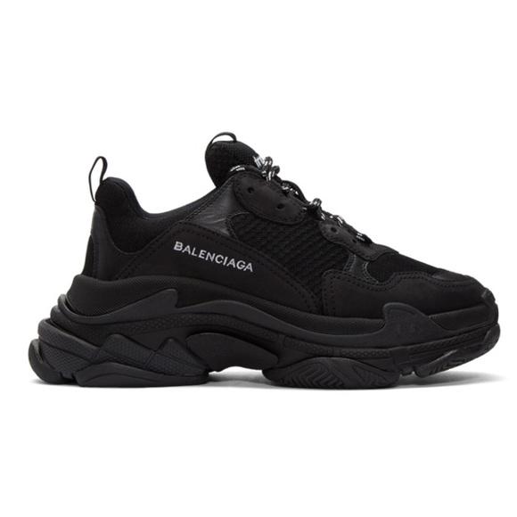 f9e18f040 Balenciaga Shoes   New Triple S Black Sneakers Mens 9   Poshmark
